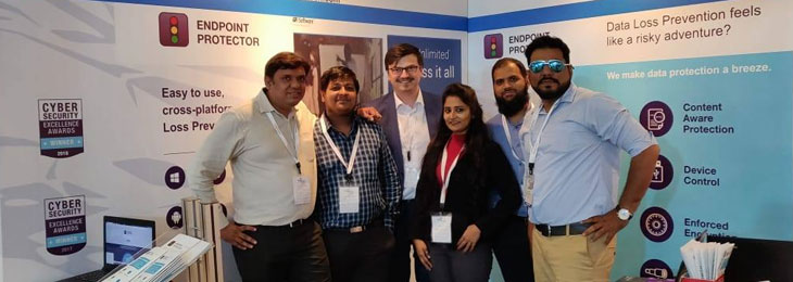 The Endpoint Protector Team at it-sa India 2018
