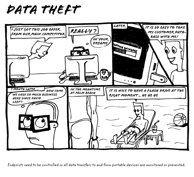 data theft comic strip