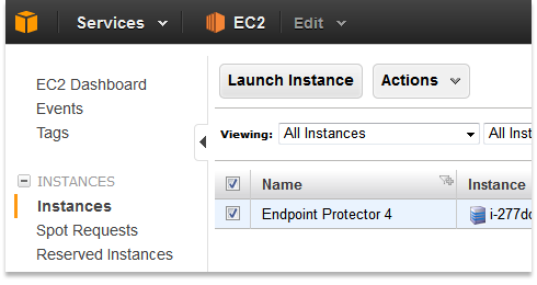 Endpoint Protector on Amazon Web Services (AWS) Marketplace
