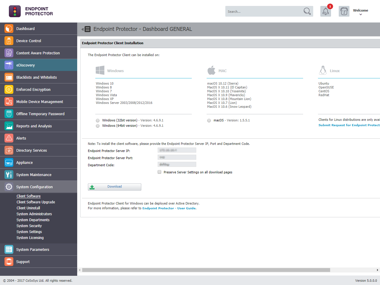 Endpoint Protector - Client Software