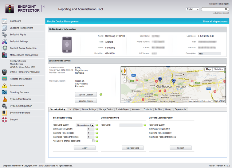 Endpoint Protector 4 Mobile Device Management