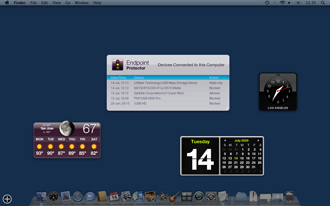 Endpoint Protector Mac OS X Widget