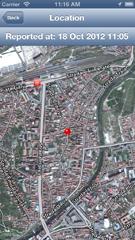 iPhone 5 location map